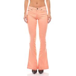 AJC Regular-fit-Jeans Bootcut Jeans Hose Sommer-Hose Damen Pfirsichfarben AjC 32