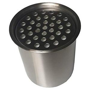 Edelstahl Dose 0,45 L mit Keramikwolle Bio-Ethanol Tischkamin Brennbehälter, Variante:Behälter 450 ml