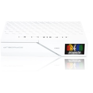 Dreambox DM900 UHD 4K E2 Linux PVR 1x DVB-S2X Dual Sat Receiver Weiss 500GB HDD