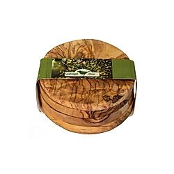 Olivenholz Untersetzer für Gläser