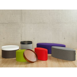 Softline Hocker Drum lila, Designer Softline Design Team, 30 cm