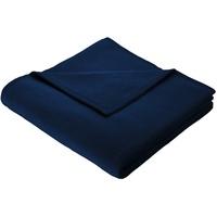 biederlack Plaid / Decke Pure Cotton mitternacht Samtband-Einfassung 150 x 200 cm