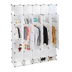 relaxdays Kleiderschrank transparent