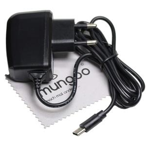 Ladegerät passend für Google Nexus 5X, Nexus 6P, Pixel, Pixel 2, Pixel 2 XL, Pixel XL USB Typ-C Ladekabel Kabel Schnell-Netzladegerät 2A OTB mit mungoo Displayputztuch