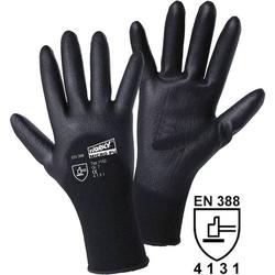 Worky L+D MICRO black 1152 Nylon Arbeitshandschuh Größe (Handschuhe): 9, L EN 388 CAT II 1 Paar