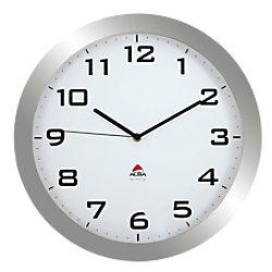 Alba Wanduhr Horissimo M 38 x 5,5 cm Grau