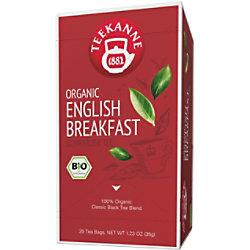 TEEKANNE Bio English Breakfast Tee Packung mit 20 Stück
