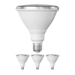 E27 PAR38 LED Reflektor-Strahler 16W =175W 1700lm weiß A+ für innen und außen mit kurzem Hals, 4 Stk.