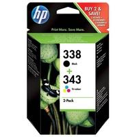 HP 338 schwarz + 343 CMY (SD449EE)