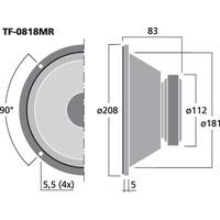 Celestion TF-0818MR Basslautsprecher 8 Zoll 20 Watt