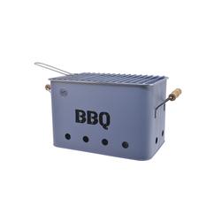 Kaemingk Zink BBQ Grill mit Griff in hellblau, 21 x 32,5 cm