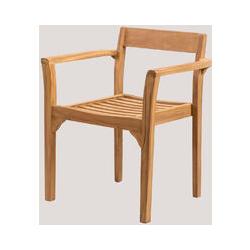 Chaise de jardin en bois de teck Aivan Bois de Teck bois de teck - bois de teck bois de teck - Sklum