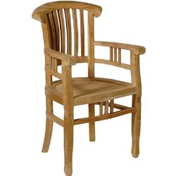 m3 moebel Esszimmerstuhl AC Colonial Stuhl mit Armlehnen, Teak