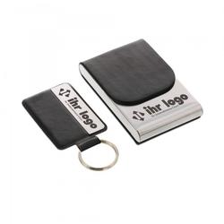 Lasergravierter SET Schlüsselanhänger & Vistienkartenetui
