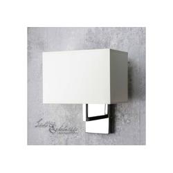 Licht-Erlebnisse Wandleuchte HOTEL Moderne Wandlampe Chrom Stoff Schlafzimmer Leselampe Lampe