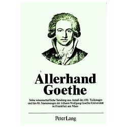 Allerhand Goethe - Buch