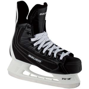 Bauer Eishockeyschlittschuh Flexlite Elite (Größe: 12.0 = 48.0, 001 schwarz)