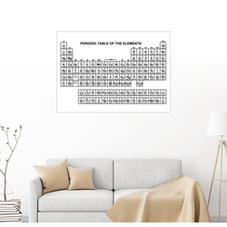 Posterlounge Wandbild, Periodensystem 80 cm x 60 cm