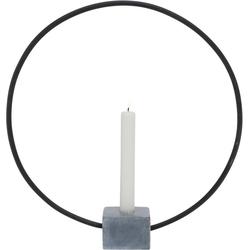 BOLTZE Kerzenhalter Congo, rund, mit Sockel in Beton-Optik Ø 38 cm x 7 cm