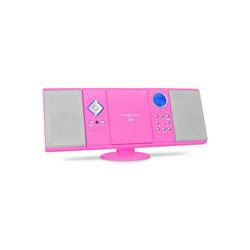 ONECONCEPT V-12 Stereoanlage USB SD CD MP3 AUX UKW pink Kompaktanlage (UKW/MW-Radioreceiver, 0 W) rosa