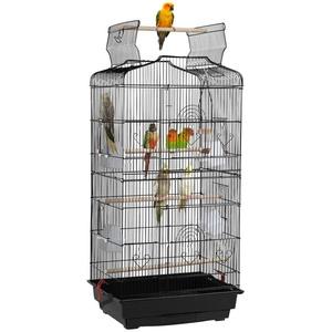 Yaheetech Vogelkäfig, Käfig Vogelvoliere Vogelhaus für Papagei Wellensittich finken kanarienvögel schwarz