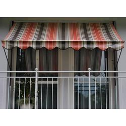 Angerer Freizeitmöbel Klemmmarkise, rot/beige/braun, Ausfall: 150 cm, versch. Breiten rot Klemm-Markisen Markisen Garten Balkon Klemmmarkise