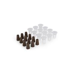 blumfeldt Kräutertopf Urban Bamboo reFresh Kit Zubehör-Set Ersatz 12 Pflanzkörbe & 12 Pflanzschwämme