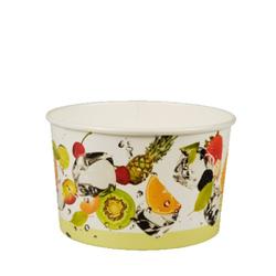 Papstar Pure Eisbecher Pappe, rund, Umweltfreundlicher Eisbecher aus Pappe mit Dekor, 1 Packung = 100 Stück, 250 ml