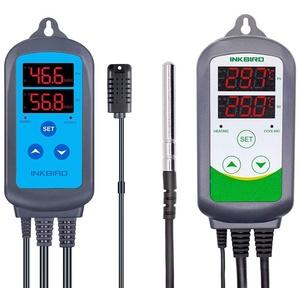 Inkbird Kombinationsset IHC-200 Feuchteregler ITC-308 Digitaler zweistufiger Temperaturkühler für Heizkühlung
