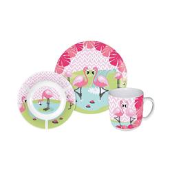 p:os Kindergeschirr-Set Kindergeschirr Keramik Minnie Mouse, 3-tlg. rosa