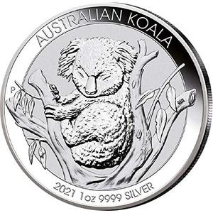 Silbermünze 1 Unze Australien Koala 2021 incl. Münzkapsel, Neuware, Differenzbesteuert nach § 25a UstG