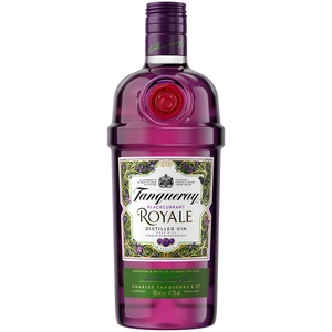 Tanqueray Blackcurrant Royale Distilled Gin – Ideale Spirituose für Cocktails oder Gin Tonic – 1 x 0,7l
