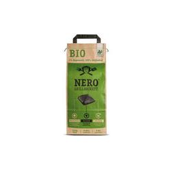NERO Kohlekorb BIO Grill Holzkohle Briketts - 2,5kg Sack - Garantiert ohne Tropenholz - Holz aus Deutschland