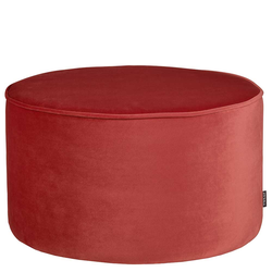 Pouf in Rot Samt