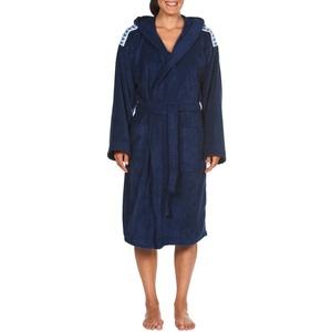 ARENA Unisex Bademantel Soft Robe Core, Navy White, XL