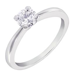 Klassischer Verlobungsring aus Platin mit Diamant Enemie