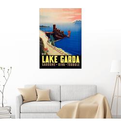 Posterlounge Wandbild, Gardasee 100 cm x 130 cm
