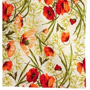 Tischset / Platzdeckchen Mohn 100% Baumwolle 35 x 50 cm ALVOR