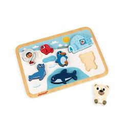 Janod Puzzle Chunky Puzzle Arktis 7 Teile (Holz), 7 Puzzleteile