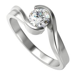 Klassischer Verlobungsring mit Diamant Yadu