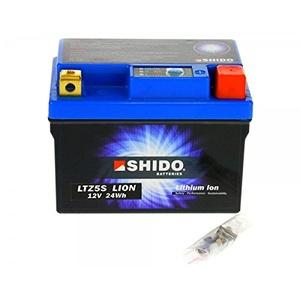 Shido LITHIUM-IONEN Batterie YTZ5S 12 Volt, SHIDO Motorrad Batterie | LiFePO4 | LI-YTZ5S passend für Beta Alp 200, Bj. 2010 [Preis ist inkl. Batteriepfand]