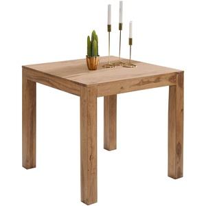 Esstisch quadratisch Massiv 80 x 80 cm Akazie Küchentisch Esszimmer Tisch Neu