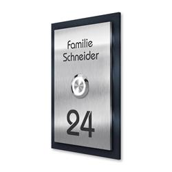 Türklingel Klingelplatte V2A Edelstahl + Gravur & Hausnummer