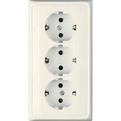 Jung CD523,Kabelkanal-SCHUKO® Steckdose, 3fach, 16 A 250 V ~, Duroplast, Serie CD, weiß