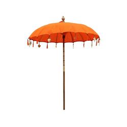 Oriental Galerie Sonnenschirm Balinesische Sonnenschirme Variante 180 cm Ø, Handarbeit orange