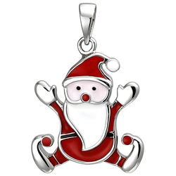 JOBO Kettenanhänger Weihnachtsmann, 925 Silber