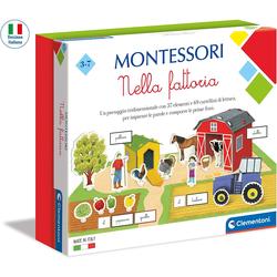 Clementoni Montessori Pädagogisches Brettspiel auf dem Bauernhof