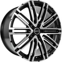 GMP Targa-S black polished 10x21 ET19 - LK5/112 ML66.6 Alufelge schwarz