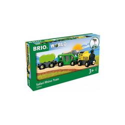 BRIO® Spielzeug-Eisenbahn Safari-Zug mit Nashorn