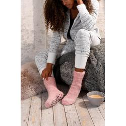 Sympatico ABS-Socken (1-Paar) aus Strick mit rutschfester Sohle rosa 35-38